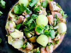 Σεβίτσε: τι είναι & το τέλειο μεξικάνικο ceviche γαρίδας - Pandespani.com Ceviche, Salad Bar, Potato Salad, Food And Drink, Potatoes, Ethnic Recipes, Potato