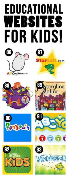 Great list of apps, websites, and youtube stations for kids!