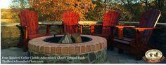 How beautiful are these Classic #AdirondackChairs around a fire pit? #backyard #patio #furniture #firepit #handcrafted #MuskokaChair #Muskoka #cottage