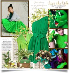 """green"" by bieberconda-1 ❤ liked on Polyvore"