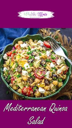 Chickpea Salad Recipes, Healthy Salad Recipes, Raw Food Recipes, Indian Food Recipes, Vegetarian Recipes, Best Quinoa Salad Recipes, Quinoa Side Dish, Quinoa Dishes, Veggie Side Dishes