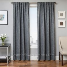 Brookline Linen Curtain Drapery Panels In Standard Size Lengths And Extra Long 108 Inch Curtains