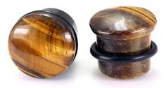 Top Hat BROWN TIGER EYE STONE Plug with Black Oring - #stoneplugs #tunnels #plugs #painfulpleasures #stretchedears #bodyjewelry #stonejewelry #stonetunnels #piercings #gauged Nipple Rings, Belly Rings, Jewelry Tattoo, Body Jewelry, Painful Pleasures, Stone Plugs, Stretched Ears, Alternative Outfits, Stone Jewelry