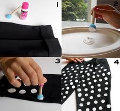 DIY: perfect polka dots