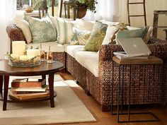 round coffee table decor - Google Search