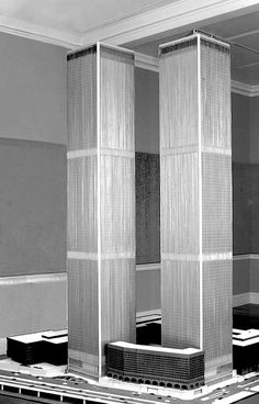 World Trade Center Model Minoru Yamasaki Associates Architecture New York USA 1973