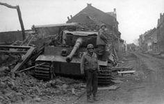 German Tiger tank number 201 of schwere Panzer Abteilung 301 (Fkl) in Elsdof 1945