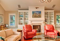Walls Windows and Fireplace with Built Ins | -stone-fireplace-beige-wall-built-ins-built-in-bench-Built-In-Window ...
