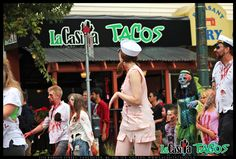 Zombie walk in front of La Casita Tacos in West End Vancouver BC on August 17, 2013 - Zombie Families  http://www.lacasitatacos.ca/  #Zombie #walk #infront #LaCasita #Tacos #West #End #Vancouver #BC #August #17 #2013 #Zombie #Families