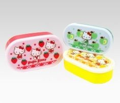 An image of Hello Kitty 3-Piece Lunch Case Set: Fruit