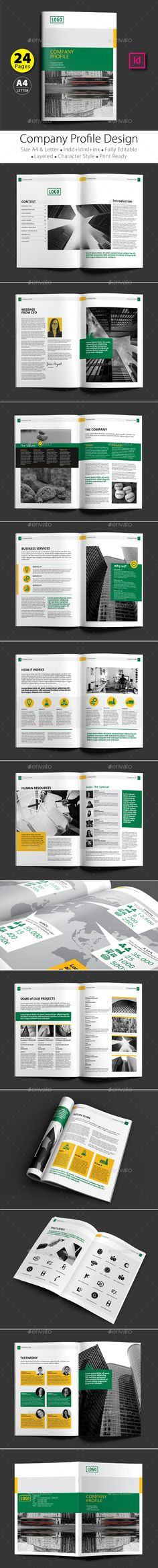 Company Profile Template v05 Company profile, Brochures and - professional business profile template