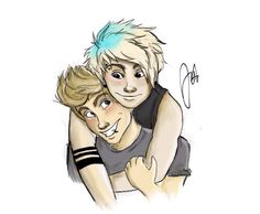 Aw! I don't ship Muke romantically but this fanart is adorable!