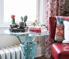 diy déco avec plante verte d'intérieur et mini jardin de cactus et de succulents