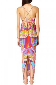 Triangle Top Cutout Maxi Dress
