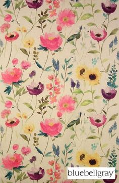 bluebellgray Flower Field - Linen | Ideal Drape Makers