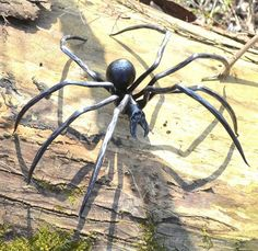 BLACK WIDOW Hand Forged Steel SPIDER Figure by WulflundJewelry
