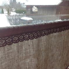 Cafe curtain / linen cafe curtain / Privacy curtain by BicoEstonia