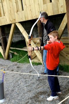 Birthday party with a difference; Archery at the Irish National Heritage Park www.inhp.com
