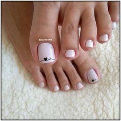 Pedicure Designs, Pedicure Nail Art, Toe Nail Designs, Pedicure Ideas, Toe Nail Color, Toe Nail Art, Nail Colors, Nail Nail, Pretty Toe Nails