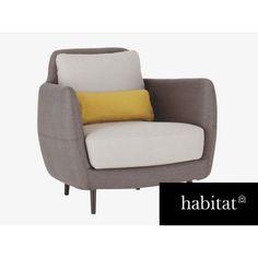 Habitat Ella Grey Armchair
