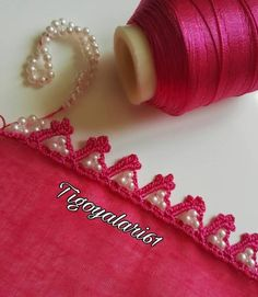 This post was discovered by HU Embroidery On Clothes, Hand Embroidery, Sewing Stitches, Crochet Stitches, Bead Crochet, Crochet Lace, Crochet Borders, Needle Lace, Lace Ribbon
