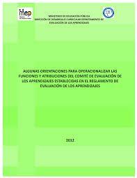 Orientaciones para operacionalizar funciones del COMITE DE EVALUACIÓN