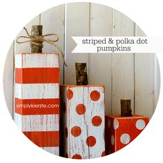 4x4 Post Striped & Polka Dot Pumpkins | simplykierste.com