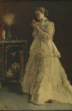 Alfred Stevens - De dame in het roze
