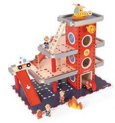 Janod Fire Station, Baby and Toddler Learning Toys Learning Toys For Toddlers, Toddler Learning, Kids Toys, Children's Toys, Baby Shower Niño, Rescue Vehicles, Travel Toys, Sensory Toys, Toy Store