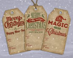 "Digital #Christmas Gift Tags X-Mas Hang Tags ""Christmas Tags"" instant download…"