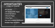 #Opportunities is advanced mega #job board template. It contains all files required files for creating successful job portal website.  For new #Website #Template Please Visit at http://scriptsbundle.com/
