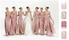 long bridesmaid dresses, mismatched bridesmaid dresses, blush pink bridesmaid dresses, bridesmaid dresses from fitdesigndress Wedding Dress Chiffon, Wedding Party Dresses, Party Gowns, Chiffon Dresses, Prom Party, Blush Dresses, White Chiffon, Chiffon Ruffle, Chiffon Gown