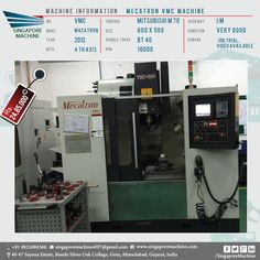 Awesome Used Mecatron VMC Machine Available In Ahmedabad Machine: Mecatron VMC  Machine MC: VMC Make