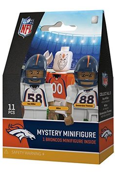 Orange//Blue Oyo Sportstoys NFL Denver Broncos Sports Fan Bobble Head Toy Figures One Size