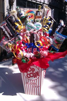 Candy bouquet would be a great gift for kids and grown ups alike.....