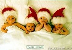 Santa Babies - Anne Geddes Wallpaper from babies. Sadly I don't know the name of the Print but I do know the work of this amazing photographer, Anne Geddes. Her ability to work with babies and capture these amazing photos are beyond words.