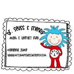 #1 Best Seller on TPT last week!!!  This is the perfect addition to your Dr. Seuss unit.  The unit includes:Thing one craft activity with blackline master to make a book.Thing o...