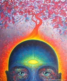 HFF:Expanded Consciousness: Open Your Third Eye and Awaken Your Pineal Gland With These Simple Exercises (This Really Works! Psychedelic Art, Opening Your Third Eye, Eye Sight Improvement, La Face, Psy Art, Pineal Gland, Pituitary Gland, Visionary Art, Grafik Design