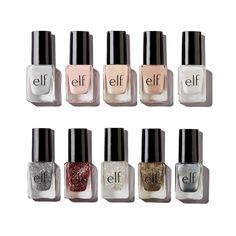 Looking for affordable cruelty-free, vegan nail polish at Target, Ulta, and other drugstores? Here's a list of 8 drugstore vegan nail polish brands! Elf Nail Polish, Barry M Nail Polish, Barry M Nails, Nail Polish Dupes, Vegan Nail Polish, Nail Polish Brands, Nail Polish Sets, Glitter Nail Polish, Nail Polish Colors