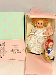 """2012 Madame Alexander Marcella And Raggedy Ann #54585 8"""" tall New In Box  #MadameAlexander"""