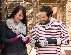 Connectivity gloves : Knitty.com - Deep Fall 2014 (need to find the yarn: Feel Good Yarn Company SilverSpun)