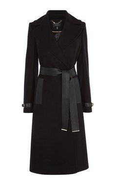 Karen Millen, Belted Trench Coat Black