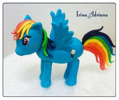 Rainbow Dash Rainbow Dash, Smurfs, Cake Toppers, Fictional Characters, Art, Art Background, Kunst, Fantasy Characters, Art Education