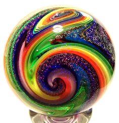 Eddie Seese Art Glass Marbles 13/4 Rainbow by SEESEARTGLASSMARBLES, $100.00