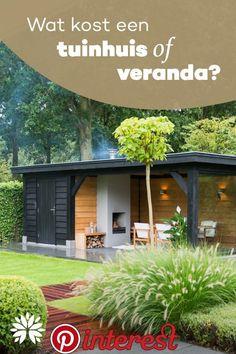 Pergola Against House Garden Room, Outdoor Garden Rooms, Garden Seating, Garden Bar Shed, Garden Buildings, Backyard Landscaping Designs, Modern Garden, Modern Gazebo