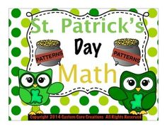 This St. Patrick's Day Pattern Math Printable activity is a great activity to help students develop the ability to see the patterns that are in everyday mathematics. This practice will give your students the reinforcement of pattern math that they can practice anytime.Included:-Example of problems -Teacher instructions-5 printable activity sheets with number practice-Answer key provided-5 printable activity sheets with letter practice -Answer key provided Please follow my store!