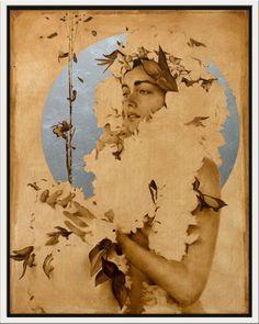 Art Journal Inspiration, Painting Inspiration, Illustrations, Illustration Art, Brad Kunkle, Gold Leaf Art, Dark Artwork, Greek Art, Portrait Art