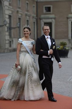 hrhroyalty:  Wedding of Prince Carl Philip of Sweden and Sofia Hellqvist, June 13, 2015-Crown Princess Victoria and Prince Daniel
