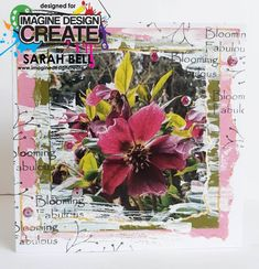 Designed by Sarah Bell using Finley's Flowers paper pad by Imagine Design Create