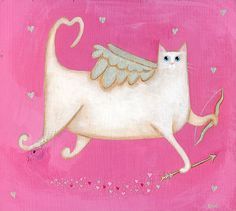 "cupid cat.  Support ""Southern California Cat Adoption Tails"" www.catadoptiontails.com"